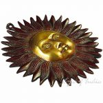 "Eyes of India 6"" LAITON SOLEIL sculpture décoration murale support en métal Antiquité bronze indien boho bohème - rouge #1, 6 X 6 in. (15.25 X 15.25 cm) de la marque Eyes of India image 4 produit"