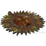 "Eyes of India 6"" LAITON SOLEIL sculpture décoration murale support en métal Antiquité bronze indien boho bohème - rouge #1, 6 X 6 in. (15.25 X 15.25 cm) de la marque Eyes of India image 1 produit"