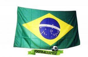 FahnenMax® Drapeau King Brésil Drapeau/drapeau–Résistant aux intempéries, multicolore, 150x 90x 1cm de la marque FahnenMax® image 0 produit