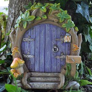 Fairy Garden britannique Violet Forest Porte de fée Grande magique Décor de jardin pour elfes, Pixies, Fées L de la marque Prezents.com image 0 produit
