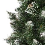 FAIRYTREES arbre sapin artificiel de Noêl SLIM, Pin naturel blanc enneigé, matière PVC, pommes de pin vraies, socle en métal, 180cm, FT09-180 de la marque FairyTrees image 1 produit