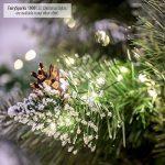 FAIRYTREES arbre sapin artificiel de Noêl SLIM, Pin naturel blanc enneigé, matière PVC, pommes de pin vraies, socle en métal, 180cm, FT09-180 de la marque FairyTrees image 2 produit