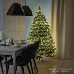 FAIRYTREES arbre sapin artificiel de Noêl SLIM, Pin naturel blanc enneigé, matière PVC, pommes de pin vraies, socle en métal, 180cm, FT09-180 de la marque FairyTrees image 3 produit