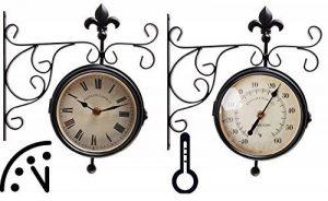 Fallen Fruits Horloge extérieure double face/heure & thermomètre de la marque Fallen Fruits image 0 produit