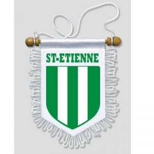 Fanion Voiture Saint-Etienne - 13 x 15 cm - Blason Ecusson Football de la marque KOO Interactive image 0 produit