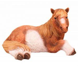 FARMWOOD ANIMALS ndash; Décoration poney couché réaliste pour la maison et le jardin (41x 30x 24cm) de la marque FARMWOOD ANIMALS image 0 produit