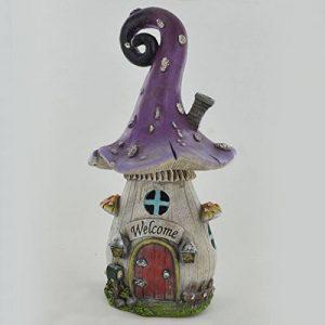 Fée Jardin anglais bouclés Champignon Maison Jardin extérieur Décor Sculpture fantaisie pour Pixie Elf H de la marque Prezents.com image 0 produit