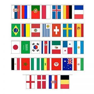Ferryman FIFA 2018Coupe du monde Top 32Pays Cordes Bannière fanions à suspendre drapeaux nationaux de la marque Ferryman image 0 produit