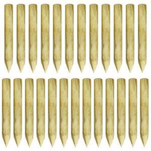 Festnight 25 pcs Poteau de Clôture Pointu en Pin Imprégné 100% FSC de la marque Festnight image 0 produit