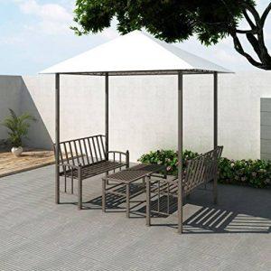 Festnight Pavillon de Jardin Luxe avec Table et Bancs Blanc de la marque Festnight image 0 produit