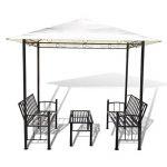 Festnight Pavillon de Jardin Luxe avec Table et Bancs Blanc de la marque Festnight image 3 produit