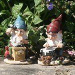 Fhfy Jardin Leo et Leonard Paire de mini Gnomes travailler, jardin, fée Ornement Statues de la marque FHFY Garden image 1 produit
