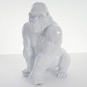 Figure de décoration gorille 40cm, polyresin sculpture, singe, intérieur/plein air - blanc de la marque Mendler image 0 produit