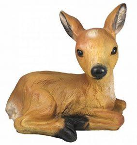 Figurine Chevreuil Faon Bambi rouge Wild couché Décoration de jardin Marron Figurine animale de la marque colourliving image 0 produit