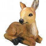 Figurine Chevreuil Faon Bambi rouge Wild couché Décoration de jardin Marron Figurine animale de la marque colourliving image 3 produit