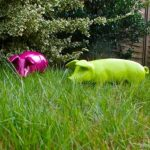 Figurine de cochon «porcelets brommel «mûre décoration de jardin 60 cm de la marque colourliving image 4 produit