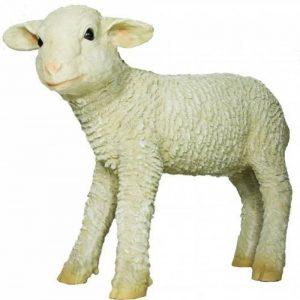 Figurine de décoration de jardin Agneau Maggie Petit Agneau Mouton XL Sculpture 45cm. de la marque colourliving image 0 produit