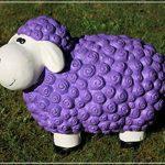 Figurine de mouton Bärbel Violet à motifs moutons animaux Multicolore Figurines pour la maison et le jardin de la marque Geschenkestadl image 1 produit