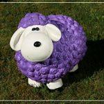 Figurine de mouton Bärbel Violet à motifs moutons animaux Multicolore Figurines pour la maison et le jardin de la marque Geschenkestadl image 4 produit