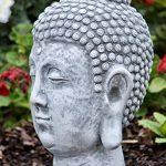 Figurine de pierre Statue tête de Bouddha Shiva, sont expédiés, au gel jusque -30 °c , en massif pierre de la marque Stone and Style image 2 produit
