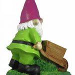 Figurine Nain de jardin Lutin avec brouette Décoration Pot de Nain de jardin de la marque colourliving image 2 produit