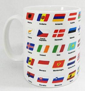 Flags of Europe Mug by Half a Donkey de la marque Half a Donkey image 0 produit