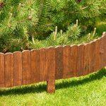 Floranica® Bordure Rollborder déroulable de 200 cm de longueur, hauteur de la bordure 20 cm en bois comme délimitation de plates-bandes, pelouse ou comme palissade - imprégnée et résistante aux intempéries, Couleur:brune de la marque Floranica image 1 produit