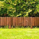 Floranica® Bordure Rollborder déroulable de 200 cm de longueur, hauteur de la bordure 20 cm en bois comme délimitation de plates-bandes, pelouse ou comme palissade - imprégnée et résistante aux intempéries, Couleur:brune de la marque Floranica image 3 produit
