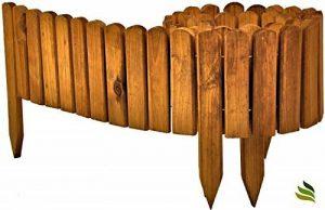 Floranica® Bordure Rollborder déroulable de 200 cm de longueur, hauteur de la bordure 20 cm en bois comme délimitation de plates-bandes, pelouse ou comme palissade - imprégnée et résistante aux intempéries, Couleur:brune de la marque Floranica image 0 produit