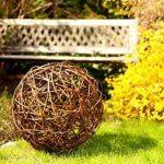 Floranica Boule décorative - au bois de saule Boule en osier Boule en sarment de vigne Décoration de jardin en 5 tailles différentes, Diamètre:30cm de la marque Floranica image 1 produit