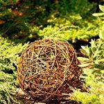 Floranica Boule décorative - au bois de saule Boule en osier Boule en sarment de vigne Décoration de jardin en 5 tailles différentes, Diamètre:30cm de la marque Floranica image 4 produit