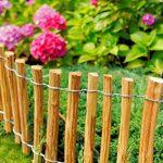 Floranica® - Clôture en bois de noisetier imprégné, clôture de jardin, longueur 5 m, Distance Piquets:3 à 4 cm, Hauteur:50 cm de la marque Pemicont image 1 produit