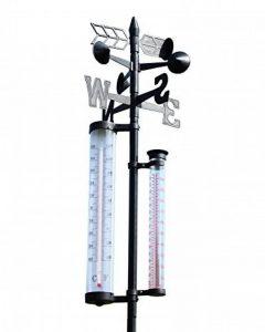 Floraworld 016547Jardin Station météo 4en 1Classic, noir, 24x 24x 145cm de la marque Floraworld image 0 produit