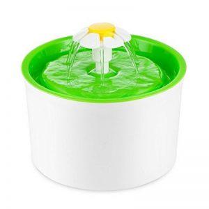 Fontaine à Fleur pour Chat Automatic Electric Flower 1.6 L Pet Water Fountain Drinking Bowl Green de la marque Eleoption image 0 produit