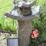 Fontaine Bain d'oiseaux solaire Pavillion par Solaray ™ de la marque Primrose image 1 produit
