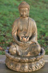 Fontaine Buddha sculpture 52 cm avec l'eau + lumière, Feng Shui Figur de la marque Homestyles image 0 produit