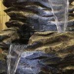 Fontaine Cascade Pierre à 4 Niveaux - avec Lumières de la marque Primrose image 1 produit