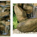 Fontaine d'Extérieur Cascade en Pierre Thornton - Lumières de la marque Primrose image 3 produit