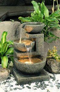 Fontaine d'Extérieur à 3 Bols de Tailles Différentes - avec Lumières de la marque Primrose image 0 produit