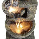 Fontaine d'Extérieur à 3 Bols de Tailles Différentes - avec Lumières de la marque Primrose image 1 produit