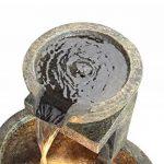 Fontaine d'Extérieur à 3 Bols de Tailles Différentes - avec Lumières de la marque Primrose image 3 produit