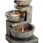 Fontaine d'Extérieur à 3 Bols de Tailles Différentes - avec Lumières de la marque Primrose image 4 produit