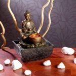 Fontaine d'intérieur lumineuse Bouddha de la marque infactory image 1 produit