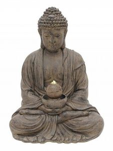 Fontaine de jardin Bouddha sikhi avec LED et pompe, 52x 65x 87 de la marque monsterkatz image 0 produit