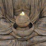 Fontaine de jardin Bouddha sikhi avec LED et pompe, 52x 65x 87 de la marque monsterkatz image 2 produit