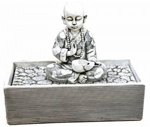Fontaine de jardin en pierre zen avec bouddha 63x 35x 54cm. de la marque DEGARDEN image 0 produit