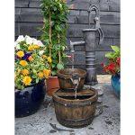 Fontaine en bois avec 2 tonneaux et pompe à bras - LAS VEGAS - de la marque Ubbink image 1 produit