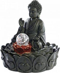 Fontaine lumineuse d'intérieur 'Bouddha' avec boule en verre de la marque infactory image 0 produit
