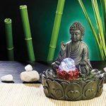 Fontaine lumineuse d'intérieur 'Bouddha' avec boule en verre de la marque infactory image 1 produit