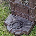 Fontaine murale sur pied - aluminium - style antique - motif fleur de lys marron de la marque aubaho image 3 produit